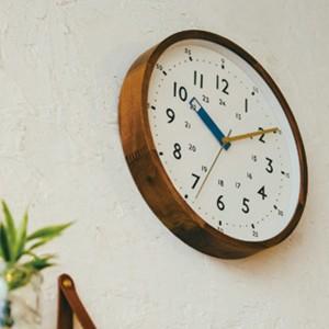 電波時計 おしゃれ 掛け時計 ストゥールマン 知育時計 壁掛け時計 木製 北欧テイスト CL-2937