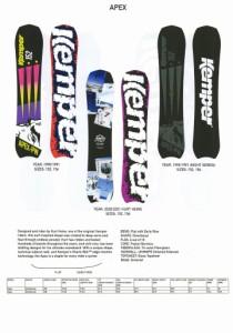 【在庫限最終特価】 KEMPER SNOWBOARDS [ APEX @72000] ケンパー スノーボード 【正規代理店商品】【送料無料】