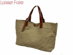 Laisser Faire[レッセフェール] パルケ 帆布&スペインレザー トートバッグ ai0365 5689393 lily19