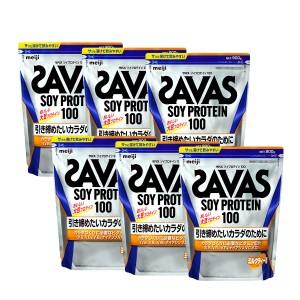 【セット】明治 ザバスSAVAS ソイプロテイン100 ミルクティ 45食分 (945g)×6袋セット【ケース売】【送料無料】(6028361-set1)