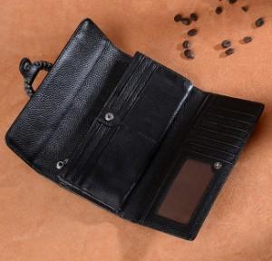 60fefa9cb14e パープル. 財布レディース 本革 三つ折り長財布 大容量 女子用さいふ カード11枚. レッド; ブラック; パープル