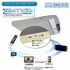 17.3インチフリップダウンモニター/フルハイビジョン/スピーカー/HDMI/USB/SD[FH17]