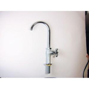 オンリーワン スワンネック型蛇口〈メッキ〉  GM3-F-909 『水栓柱・立水栓 蛇口』