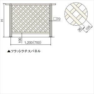 リクシル TOEX 樹ら楽ステージ デッキフェンス W1200パネル部材 パネル面材 フラットラチスパネル T08 『リクシル』 『ウッドデ