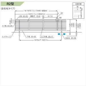 三協アルミ 形材フェンス セレクティR2型 自在柱タイプ 本体 H1000 JS2F2010 『アルミフェンス