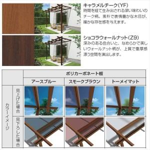 YKK ap サザンテラス パーゴラタイプ 関東間 1500N/m2 2間×7尺 ポリカ屋根