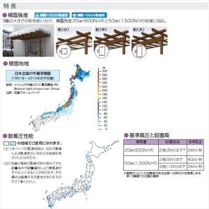 YKK ap サザンテラス パーゴラタイプ 関東間 1500N/m2 2間×3尺 熱線遮断FRP板