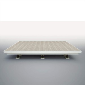三協アルミ 屋外フローリング ラステラ 3.0間×11尺 床張り出し納まり ダブルフレームタイプ 束柱・固定/ロングタイプ NRD2-1811