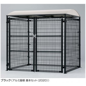 四国化成 ゴミストッカー LMF10型(アンカー式・メッシュ屋根) GSM10-MA2020WH 『ゴミ袋(45L)集積目安 153袋、世帯数目安 7