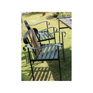 オンリーワン アイアン+バーンウッドチェア 『ガーデンチェア』