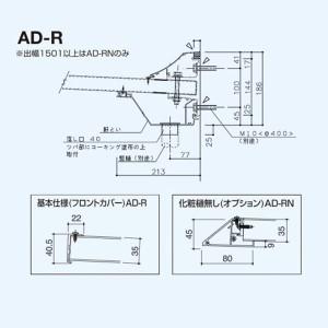 アルフィン庇 AD-R 逆勾配ひさし D600×L3800 サポートポール不要