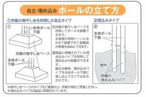 KGY 埋込式ダブルスタンドポール SP-NE2 『ケイ・ジー・ワイ 郵便ポスト』
