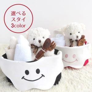 【出産祝い】スタイ オーガニックハンドタオル2枚 トートバッグ スプーン&フォーク 4点セット クマのぬいぐるみ 男の子 女の子 ベビーギ