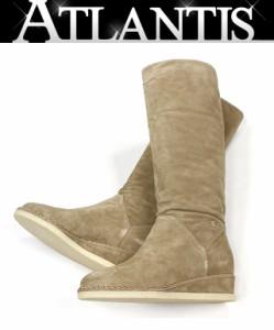 a80d0b26db7a 美品 シャネル CHANEL スエード ロングブーツ 靴 レディース 36 1/2C ベージュ
