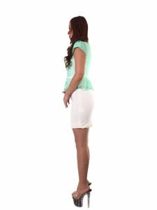 PB-1 ORIGINAL ワンピース【イエローグリーン[黄緑]】[14001-PB] パーティー キャバ クラブ スナック ドレス