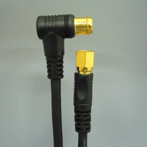 地上波デジタル対応アンテナケーブルFプラグ⇔接栓 10m【メール便不可】■FBT5100