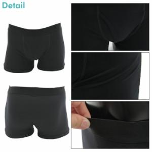 メンズ涼感素材インナー/半袖Tシャツ ノースリーブ パンツ/ブラック ホワイト