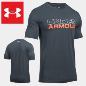 caf6f7aa0c1 アンダーアーマー 半袖 Tシャツ メンズ スポーツ UNDER ARMOUR Cotton Wordmark Stack 1265929 ブランド  大きいサイズ