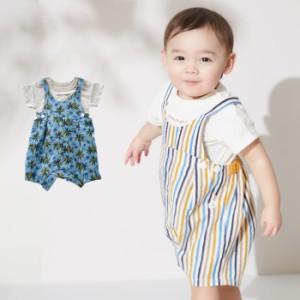4796367aa5e70  Ampersand ボディ&オーバーオール2点セット ベビー 服 おしゃれ 新生児 ベビーウェア おでかけ