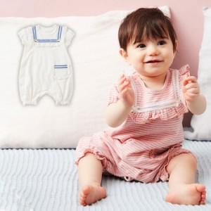 d0383bac092236 【ベビー】【Kids zoo】切替マリンオール【赤ちゃん ベビー服 女の子】