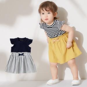 1bb5c20dc 【ベビー】【coto cotte】ドッキングワンピース ベビー服 赤ちゃん ワンピ 女の子 かわいい 綿 エンジェリーベ