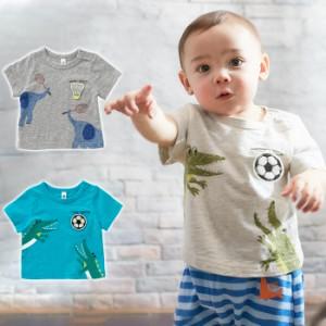 6ac9c822d22896 【ベビー】【BIT'Z】アニマルプリントTシャツ【赤ちゃん ベビー服 男の子