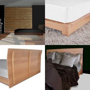 ベッドフレーム プレステージ セミダブルサイズ(木製ベッド モダンベッド フレーム)