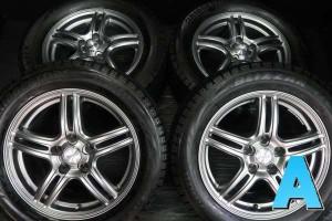 【中古】ブリヂストン ブリザック VRX 225/55R16   ヴァーレン 16インチ 114.3-5穴 4本 中古タイヤ・スタッドレスタイヤ