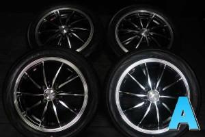 【中古】ヨコハマ ブルーアース RV-02 165/55R15 WEDS レオニス 15インチ 100-4穴 4本 中古タイヤ・サマータイヤ