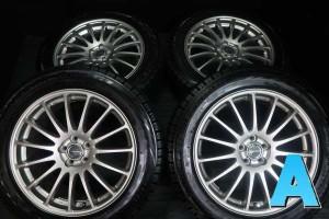 【中古】BS ブリザック REVOGZ 225/55R18 BS エコフォルム 18インチ 100-5穴 4本 中古タイヤ・スタッドレスタイヤ