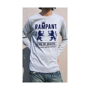 ( 送料無料 ) dial9up 動物の王 ライオン キング 象徴 RAMPANT モチーフ ロングスリーブ Tシャツ