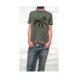 ( 送料無料 ) dial9up 土着 レゲエ 匂い ジャー・ライオン モチーフ Tシャツ デザイン JAH LIVE