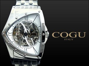 腕時計 メンズ コグ COGU 流通限定モデル フルスケルトン 自動巻き BNT-WH