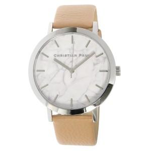 腕時計 ユニセックス クリスチャンポール CHRISTIAN PAUL マーブル AIRLIE MR-04 シルバー/ベージュ