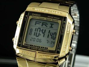 5e7d841de8 腕時計 メンズ カシオ CASIO データバンク DATA BANK ゴールド DB360G-9A