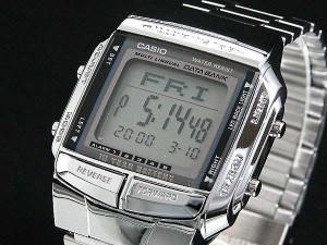 b7a8ba7997 腕時計 メンズ カシオ CASIO データバンク DATA BANK シルバー DB360-1A