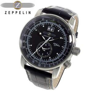 0b25bb4471 腕時計 メンズ ツェッペリン 100周年 記念モデル LZ1 クオーツ 7640-2 ブラック ブラック