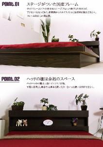 [代引不可]ムードライト付フロアベッド(日本製ポケットコイルマットレス付)/シングル