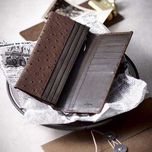 b71895eb1fdd チェルベ オーストリッチ型押し長財布/ブラウン(お財布)