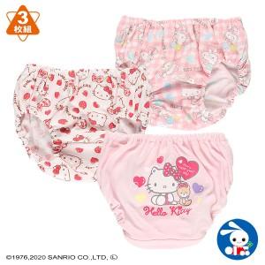 [サンリオ]3枚組ショーツ(ハローキティ)【80cm・90cm・95cm】[ショーツ 女の子 下着 パンツ ベビー 子供 子ども こども ベビー服 子供