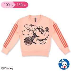 [ディズニー]アディダスミニーマウスクルースウェットシャツ【100cm・110cm・120cm・130cm】[西松屋]