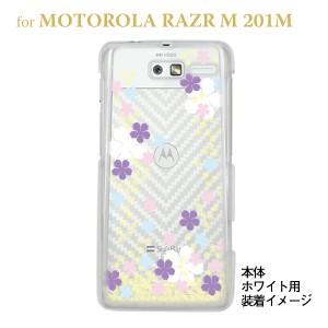 【MOTOROLA RAZR ケース】【201M】【Soft Bank】【カバー】【スマホケース】【クリアケース】【桜】 09-201m-flo0003