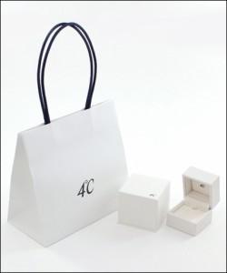 4℃ ヨンドシー 【1月誕生石】K10ピンクゴールドネックレス