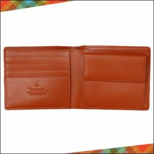 Vivienne Westwood ヴィヴィアン ウエストウッド 正規品 WATER ORB エンボス 二つ折り財布 オレンジ