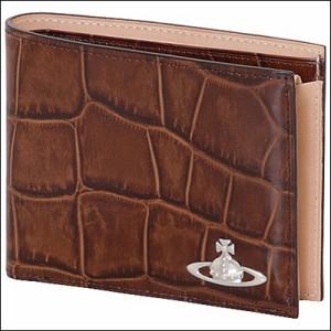 e7d585b240c4 Vivienne Westwood ヴィヴィアン ウエストウッド クロコ 二つ折り財布 ダークブラウン