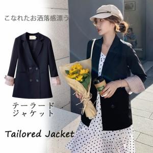 テーラードジャケット  レディース ジャケット コート 通勤 オフィス   ゆったりスーツ 着痩せる 女性 アウター(宅配便対応