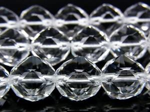 天然水晶 クリスタルクォーツ スターカット 丸玉 12mm[プレミアムカット]★送料無料★