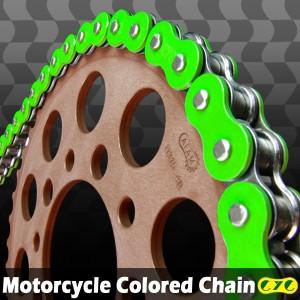 CYCバイクチェーン 525-120L 蛍光グリーン BROS NT400 CBR600F CBR600F-3 CB-1/TYPE2 CBR600F-4 CB400D スーパホーク3