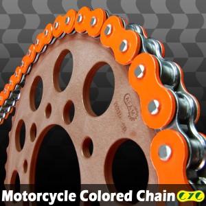 CYCバイクチェーン 530-120L 蛍光オレンジ RZV500 YZX750 SR500 FZS1000フェザー FZR600 YZF1000 FZ-6S/N YZF-R1 FZR600R