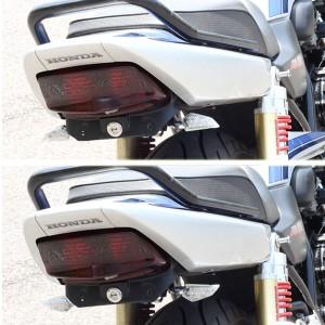 バイク用LEDウインカー ポジションランプ/ブレーキランプ付 メッキボディ/クリアレンズ バンディット250 GSF750 ウルフ125などに